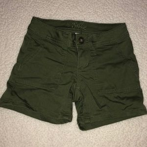 Justice green shorts size 6